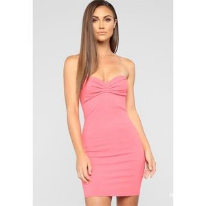Fashion Nova Coral Tube Mini Dress NWT XL & Large